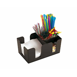 Bar Caddy Paderno in plastica nera cm 24x11
