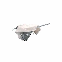 Panno passabrodo tessuto bianco 87 x 70 cm