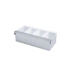 Porta condimenti Sambonet Paderno acciaio 36x16cm 4 contenitori