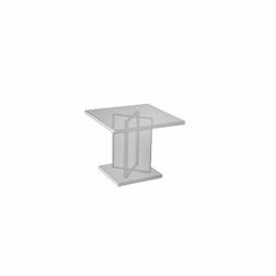 Alzata dalla forma quadrata in plexiglass cm 15 X 15 X 5