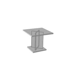 Alzata dalla forma quadrata in plexiglass cm 15 X 15 X 15
