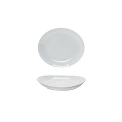 Piatto coupe Tivoli Saturnia in porcellana bianca cm 21