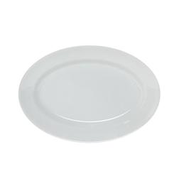 Piatto ovale in porcellana bianco cm 25 x 17