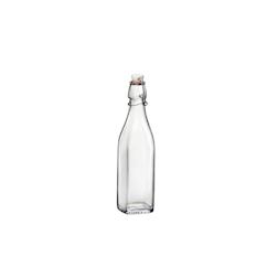 Bottiglia Swing quadra in vetro con tappo lt 1