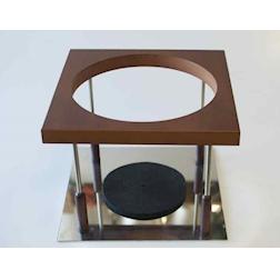 Sostegno decanter magnum in legno e acciaio