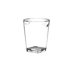Secchiello ghiaccio a base quadra in acrilico trasparente