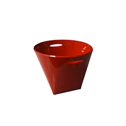 Spumantiera quadra in acrilico rosso lt 10,5