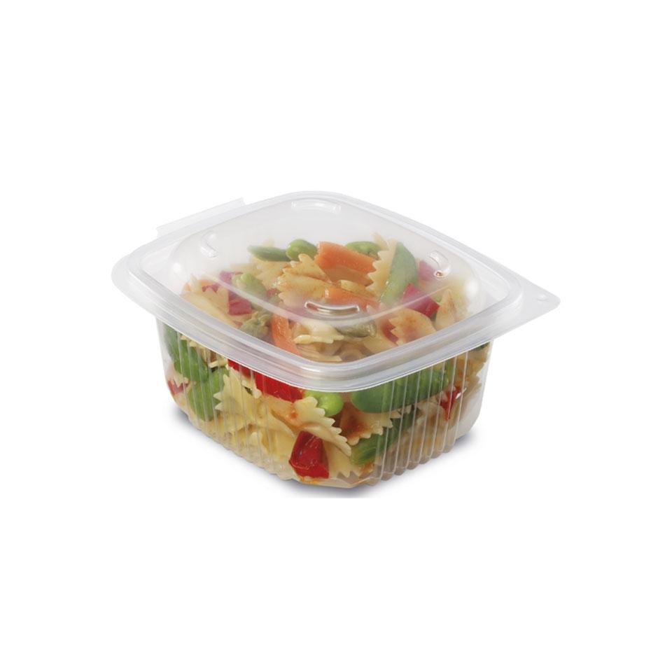 Contenitore Ondipack con coperchio in polipropilene trasparente
