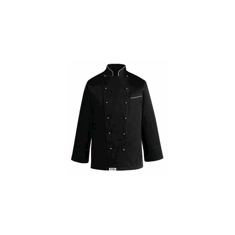 Giacca cuoco Black Egochef taglia S manica lunga nero