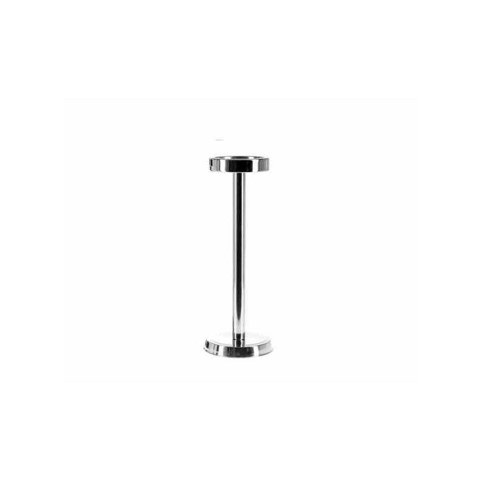 Colonna porta secchiello ghiaccio in acciaio inox cm 67