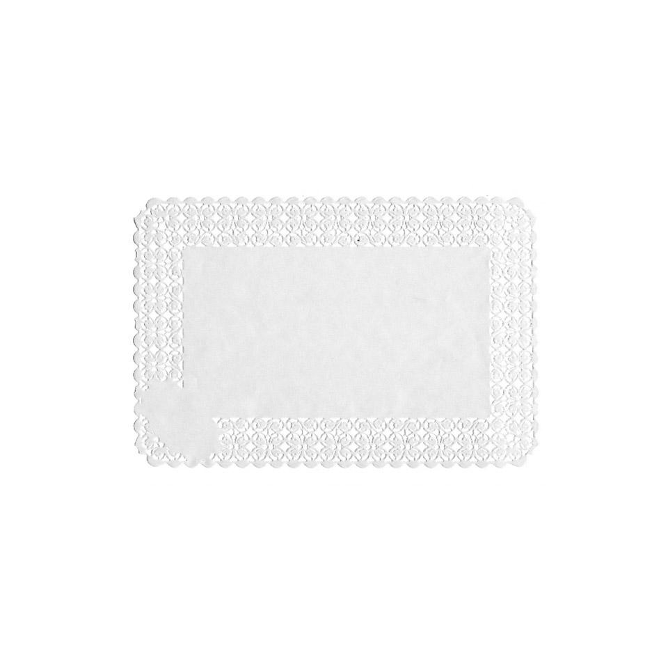 Pizzi rettangolari in carta bianca
