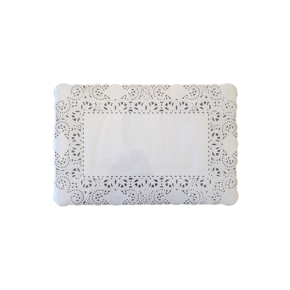 Pizzi rettangolari in carta bianca cm 35x45