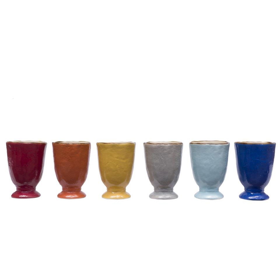 Bicchiere Mediterraneo in ceramica colorata cl 30