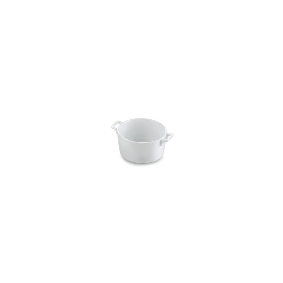 Casseruola Clever 2 manici in porcellana bianca cm 14