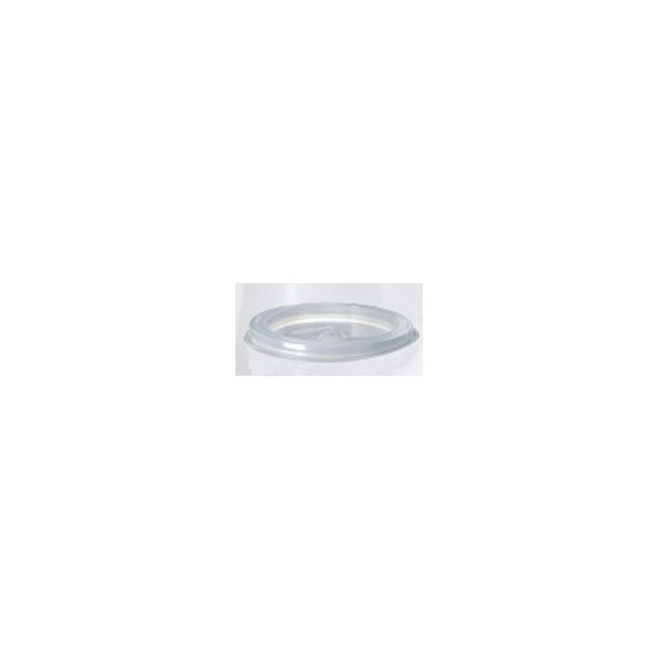 Coperchio monouso in polistirolo bianco per bicchiere cappuccino cm 7,6