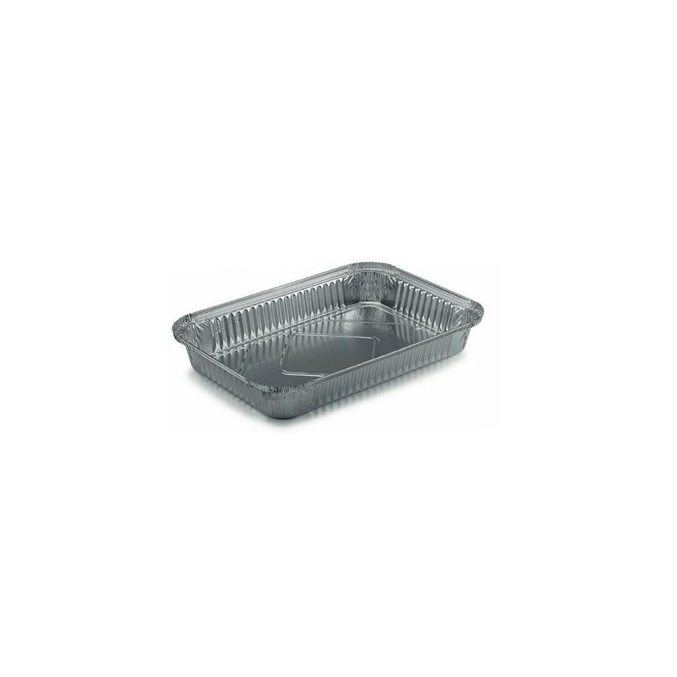 Contenitore rettangolare monouso per alimenti in alluminio lt 2
