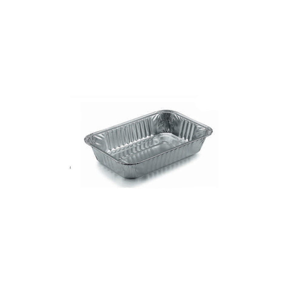 Contenitore rettangolare monouso per alimenti in alluminio lt 0,8