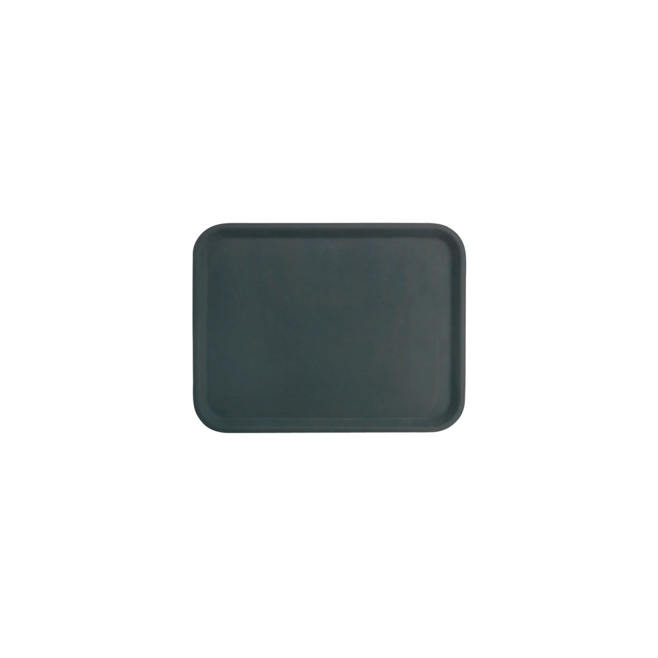Vassoio polipropilene 26x36cm antiscivolo rettangolare nero