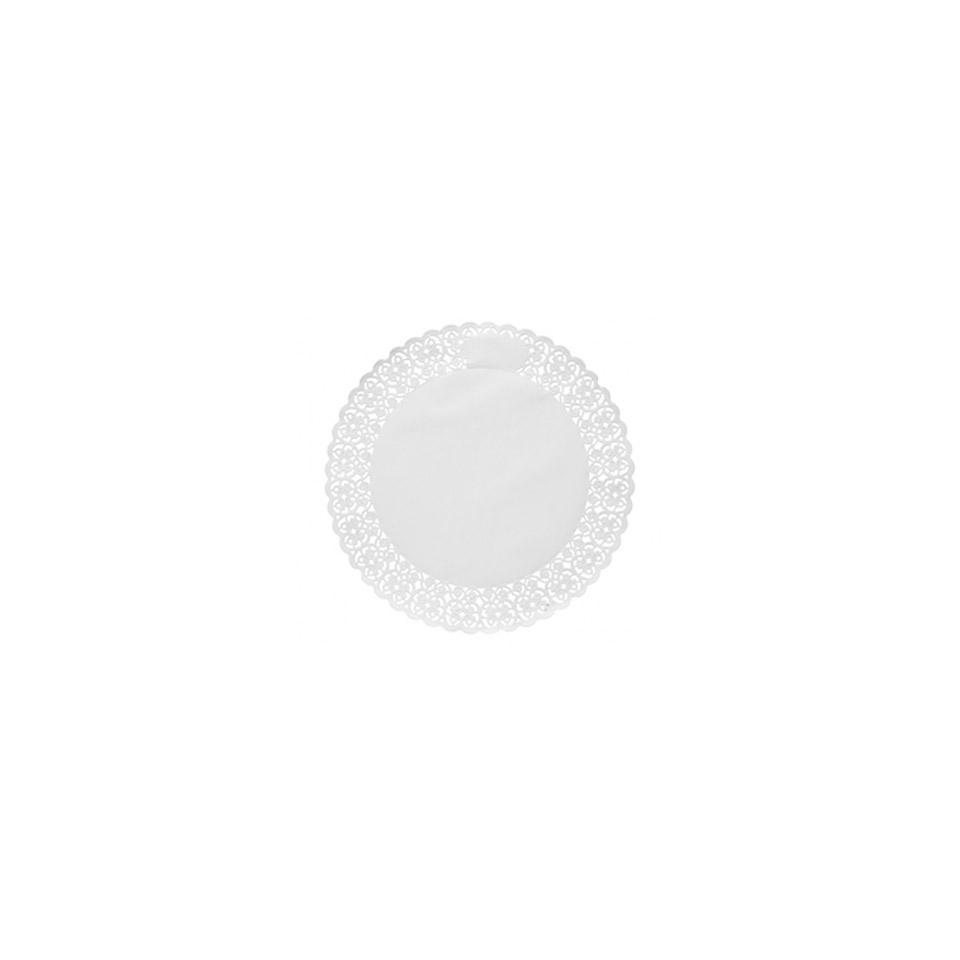 Pizzi tondi in carta bianca