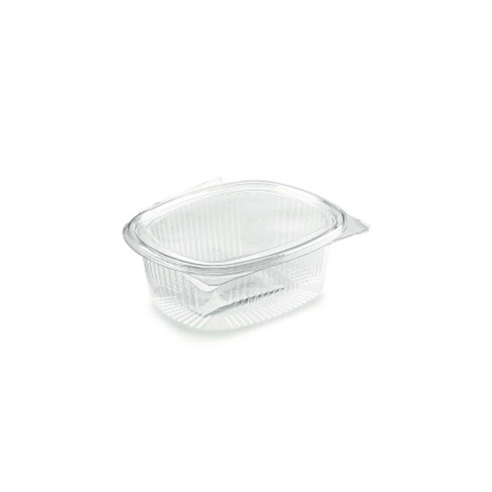 Contenitore ovale monouso per alimenti in PET trasparente