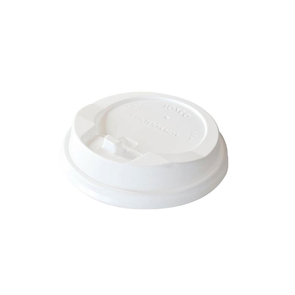 Coperchio monouso con fessura per bicchiere Duni polistirene 8 cm bianco