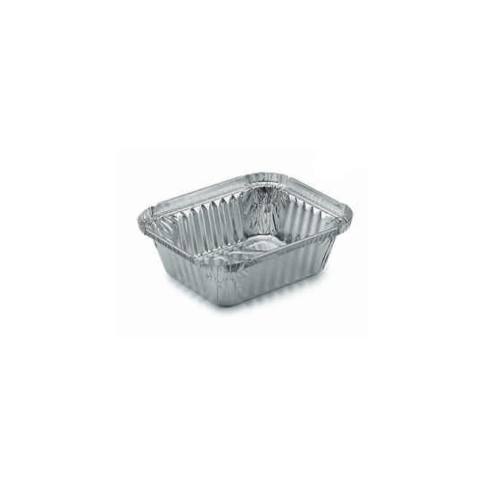Contenitore rettangolare monouso per alimenti in alluminio lt 0,47