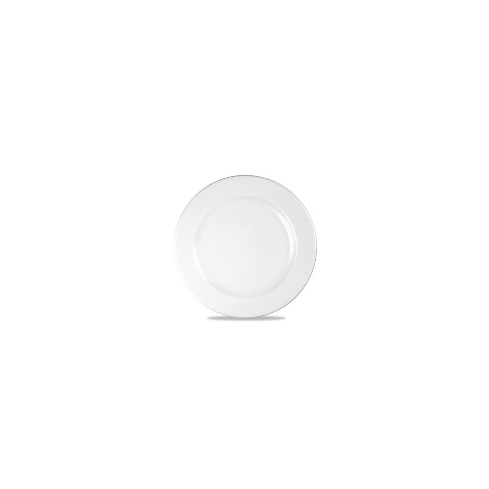Piatto piano Linea Profile Churchill in ceramica vetrificata bianco