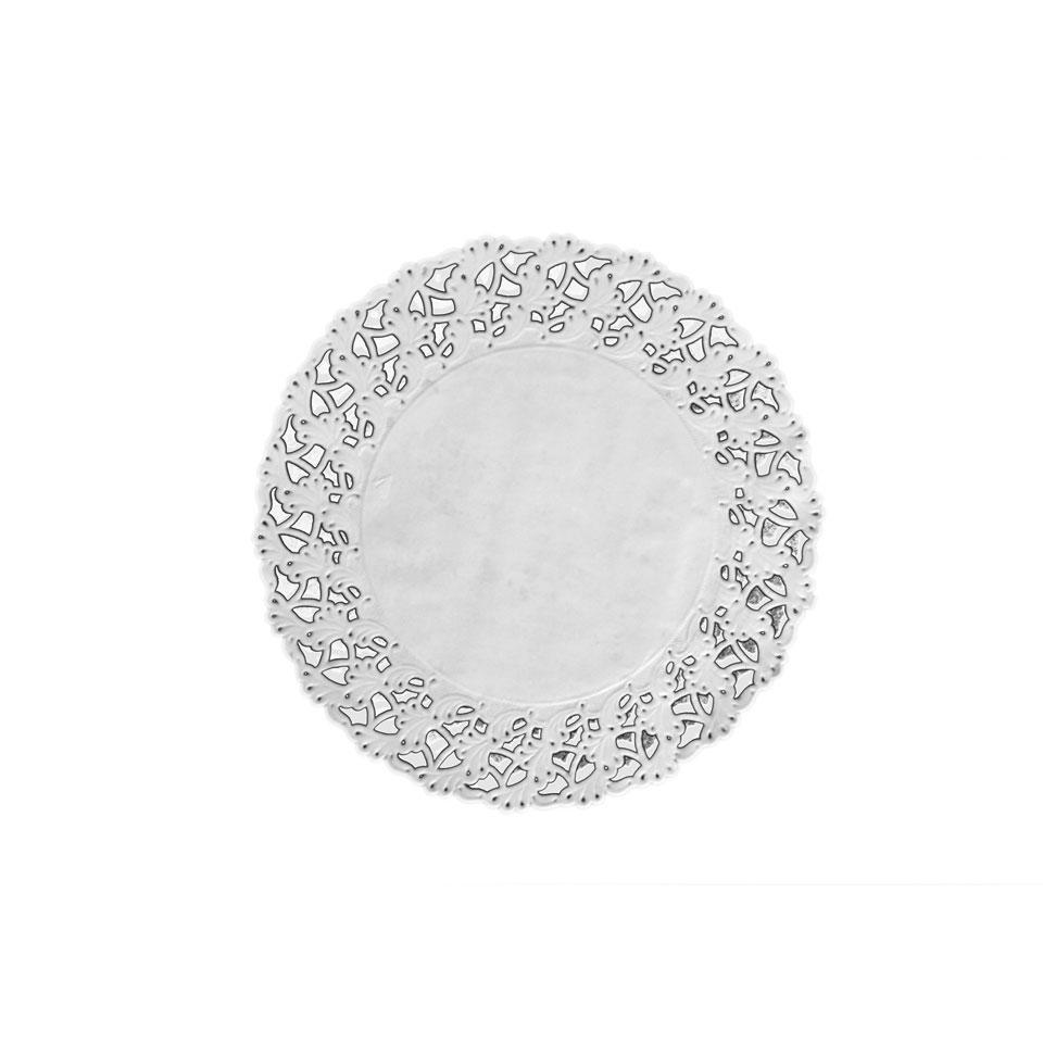 Pizzi tondi in carta bianca cm 42