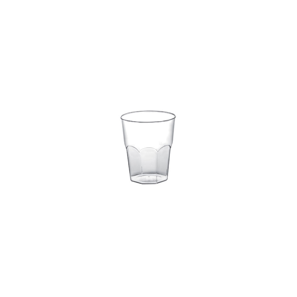 Bicchiere Liquore Cocktail Gold Plast in polipropilene cl 5 trasparente