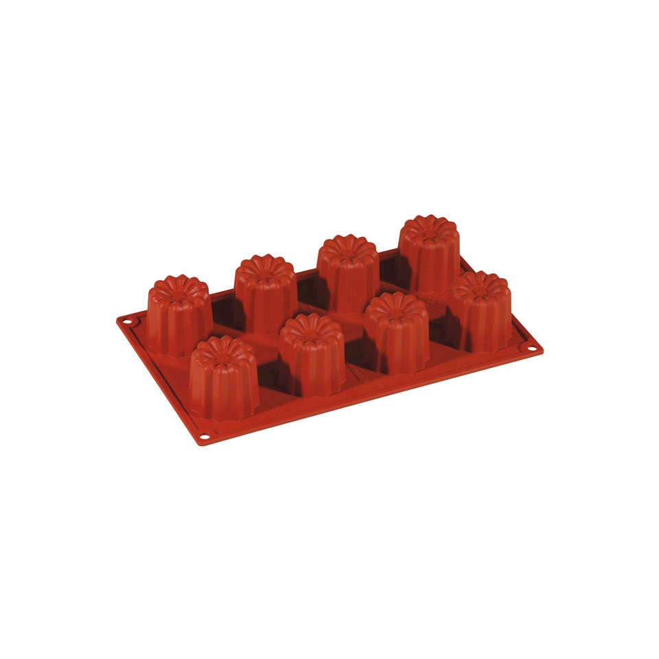 Flexipad bavarese 8 impronte in silicone marrone cm 30x17,5