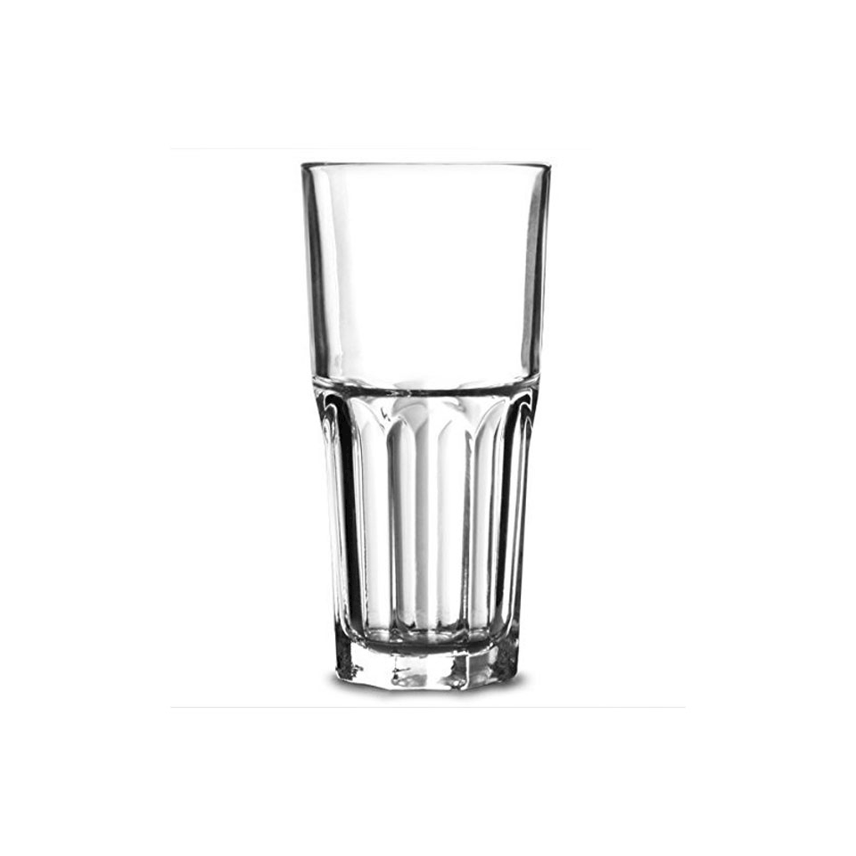 Bicchiere granity impilabile in vetro trasparente