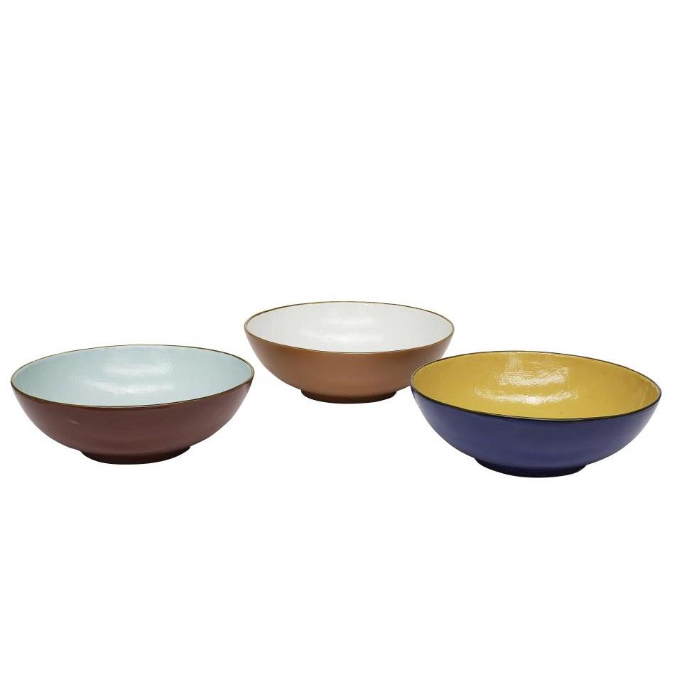 Spaghettiera tonda Mediterraneo in ceramica colorata cm 33