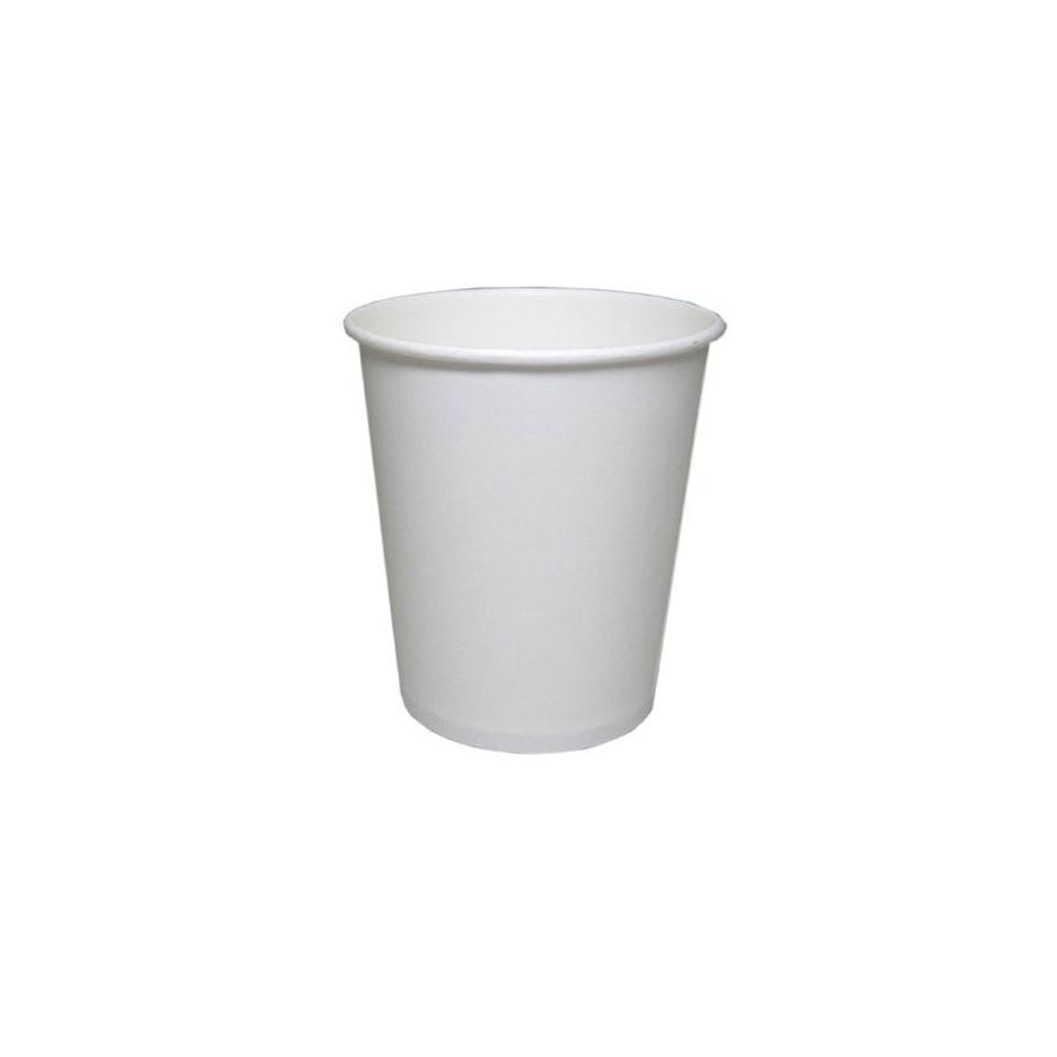 Bicchieri monouso da cappuccino in carta bianca cl 25