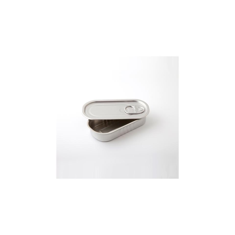 Scatoletta rettangolare 100% Chef in alluminio con coperchio
