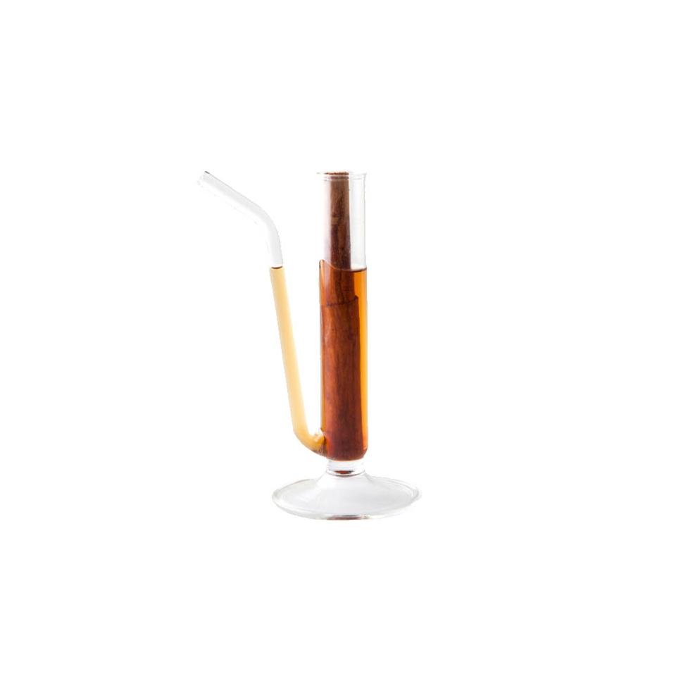 Bicchiere provetta 100% Chef in vetro con cannuccia cm 14