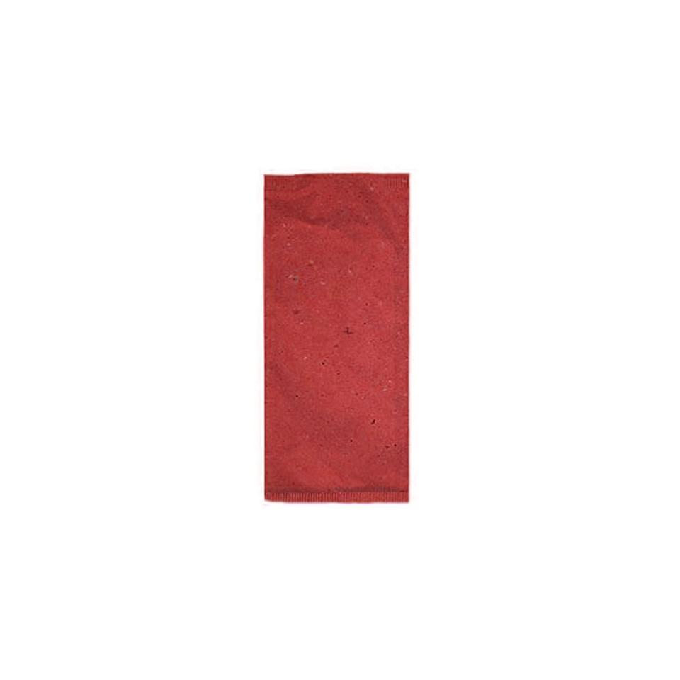Busta portaposate in carta paglia nera con tovagliolo bianco 38 x 38 cm