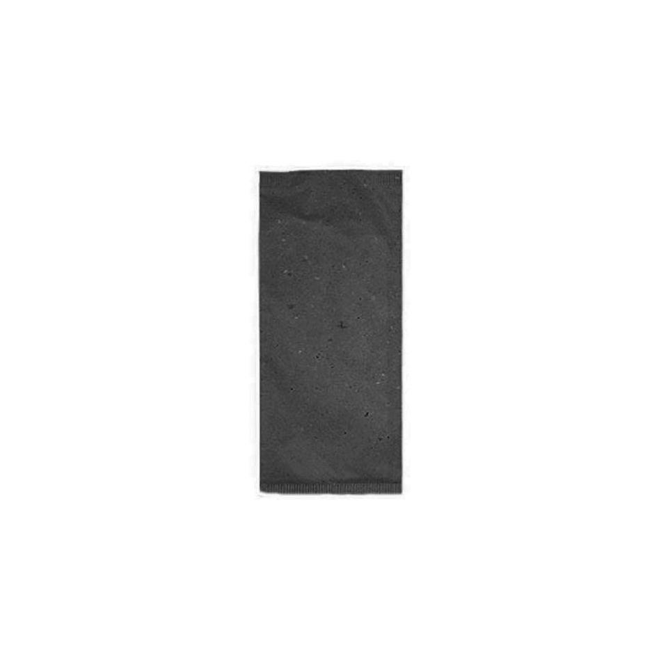 Busta portaposate in carta paglia con tovagliolo bianco