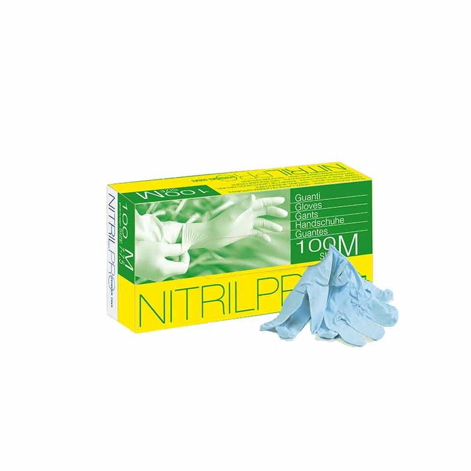 Guanti Nitril senza polvere in nitrile blu