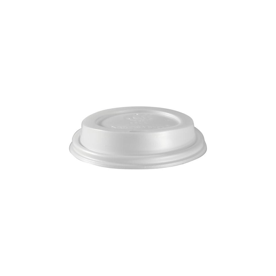Coperchio monouso con fessura per bicchiere Duni CPLA 9 cm bianco