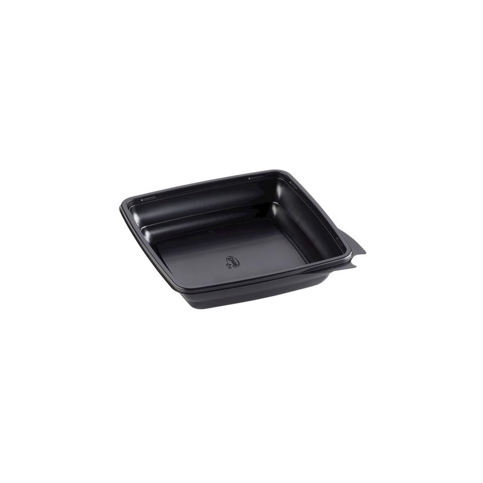 Contenitori quadri Gourmet Duni in polipropilene neri cm 19,7 x 4,4