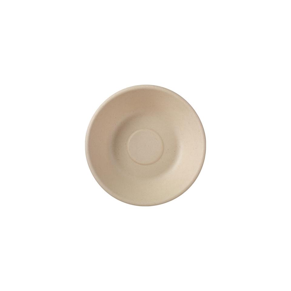 Piatto piano tondo monouso Duni in polpa di cellulosa marrone