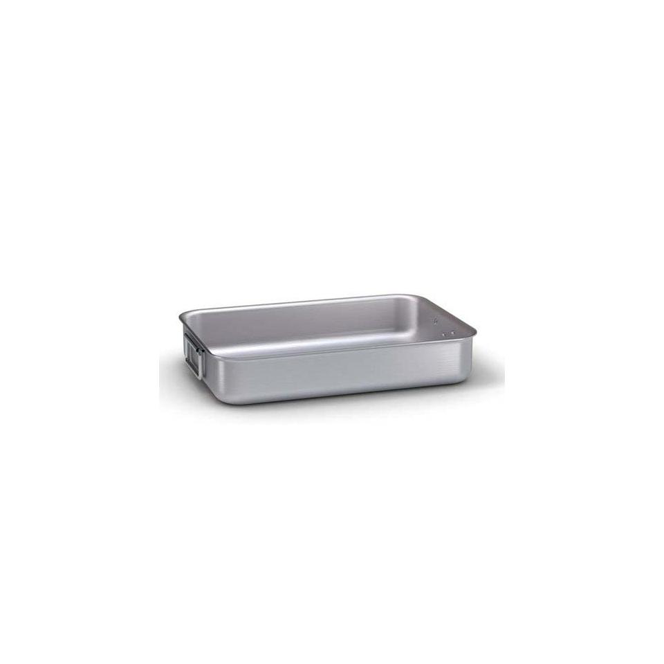 Teglia rostiera Ballarini, rettangolare in alluminio con 2 manici, cm 50 x 38