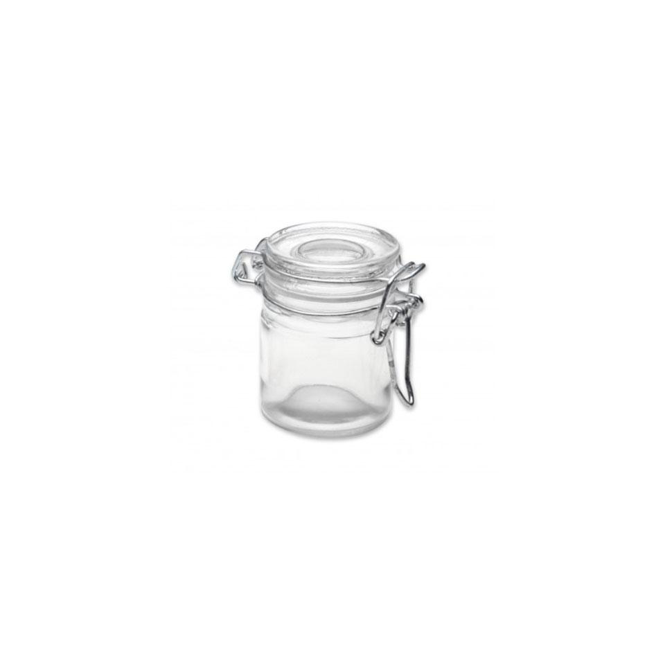 Mini barattolo ermetico 100% Chef in vetro