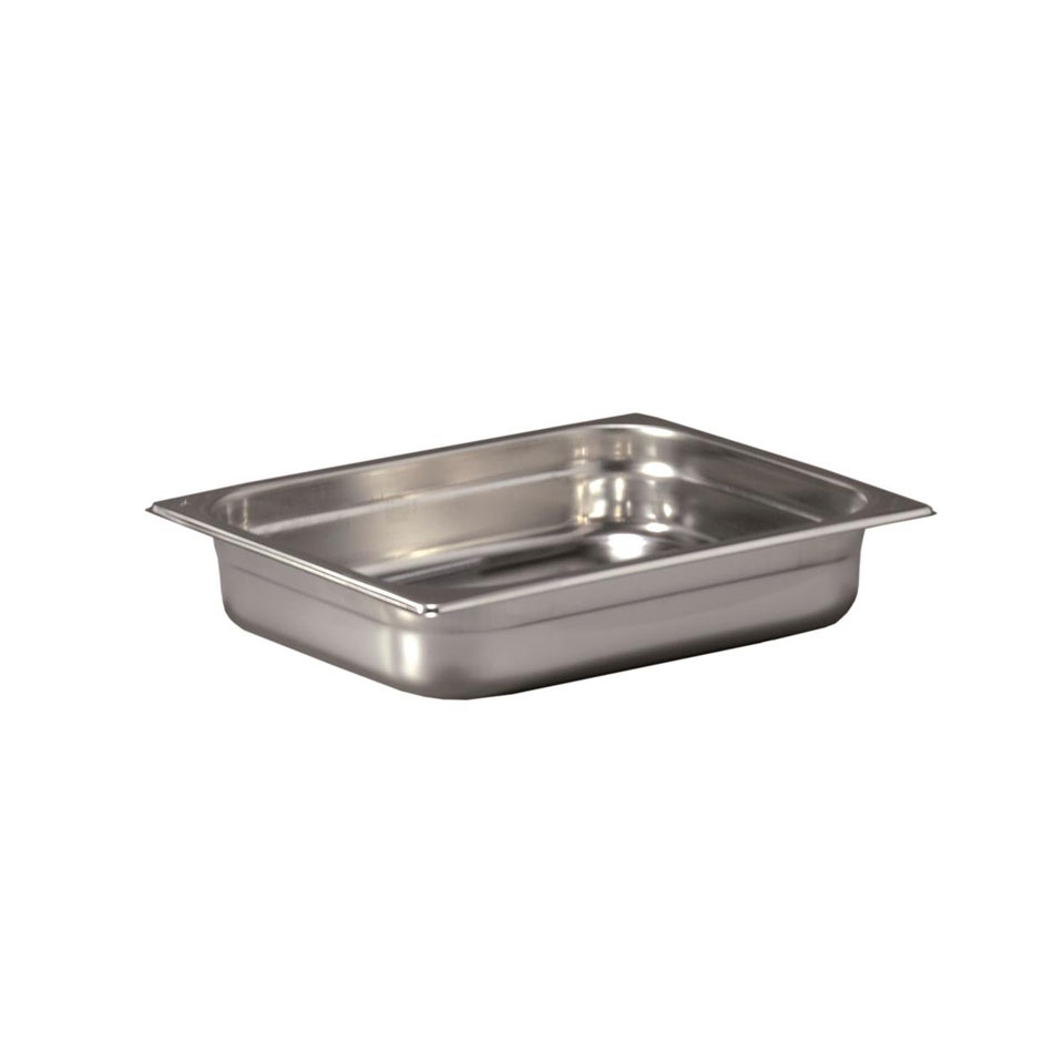 Gastronorm 1/2 in acciaio inox alta cm 2