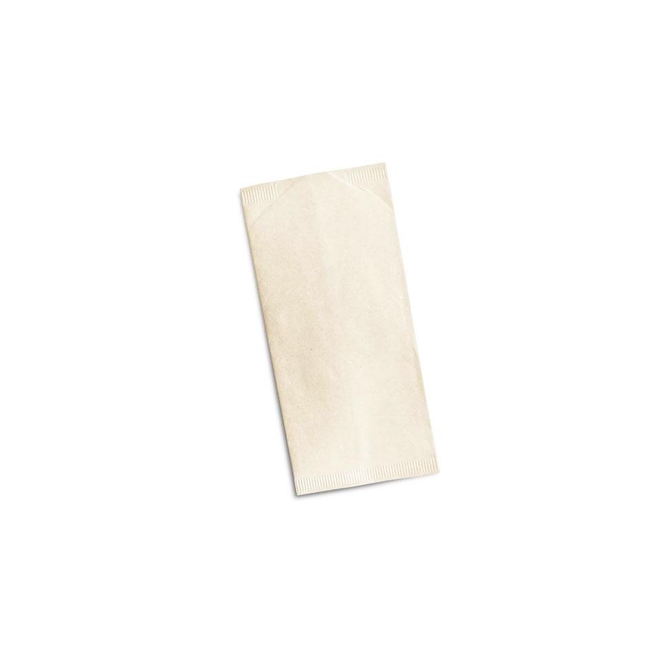 Busta porta posate in carta paglia champagne cm 24x12,5
