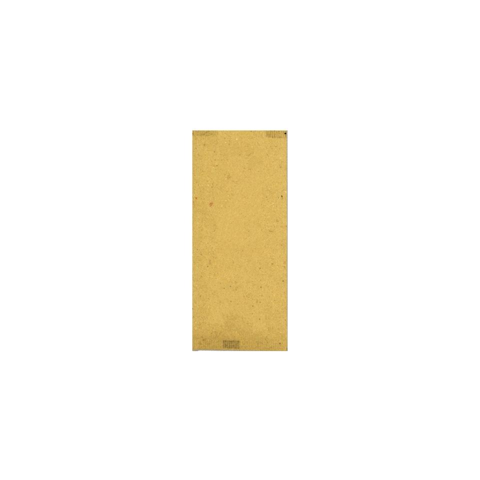 Busta portaposate in carta paglia neutra con tovagliolo bianco cm 40x40