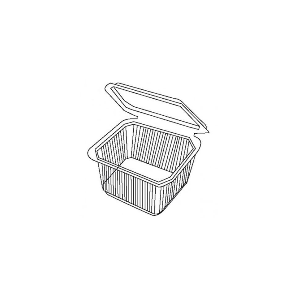 Contenitore rettangolare asporto micronde in polipropilene trasparente cm 12,7 x 10,5