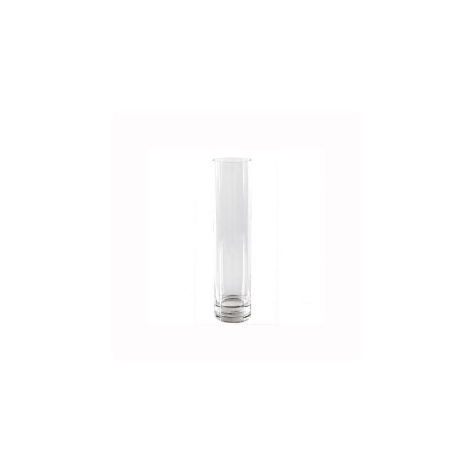 Vaso cilindrico in vetro trasparente cm 40