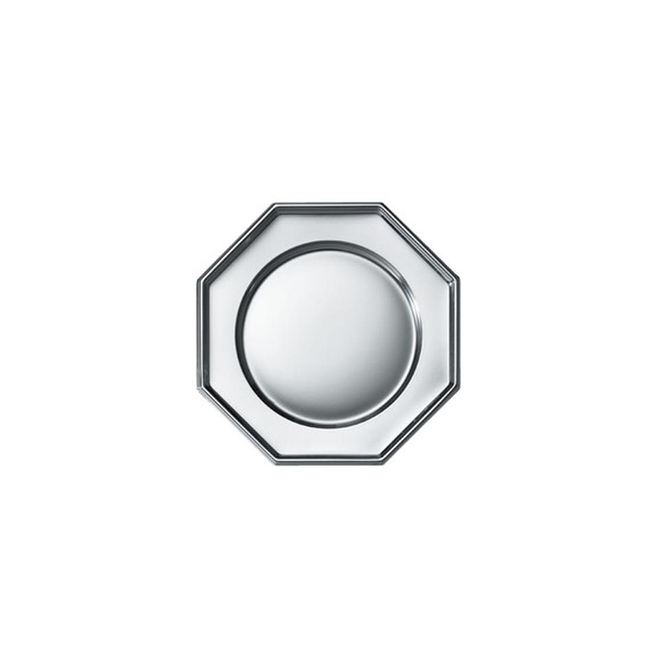 Piatti piani ottagonali in argento Duni cm 31