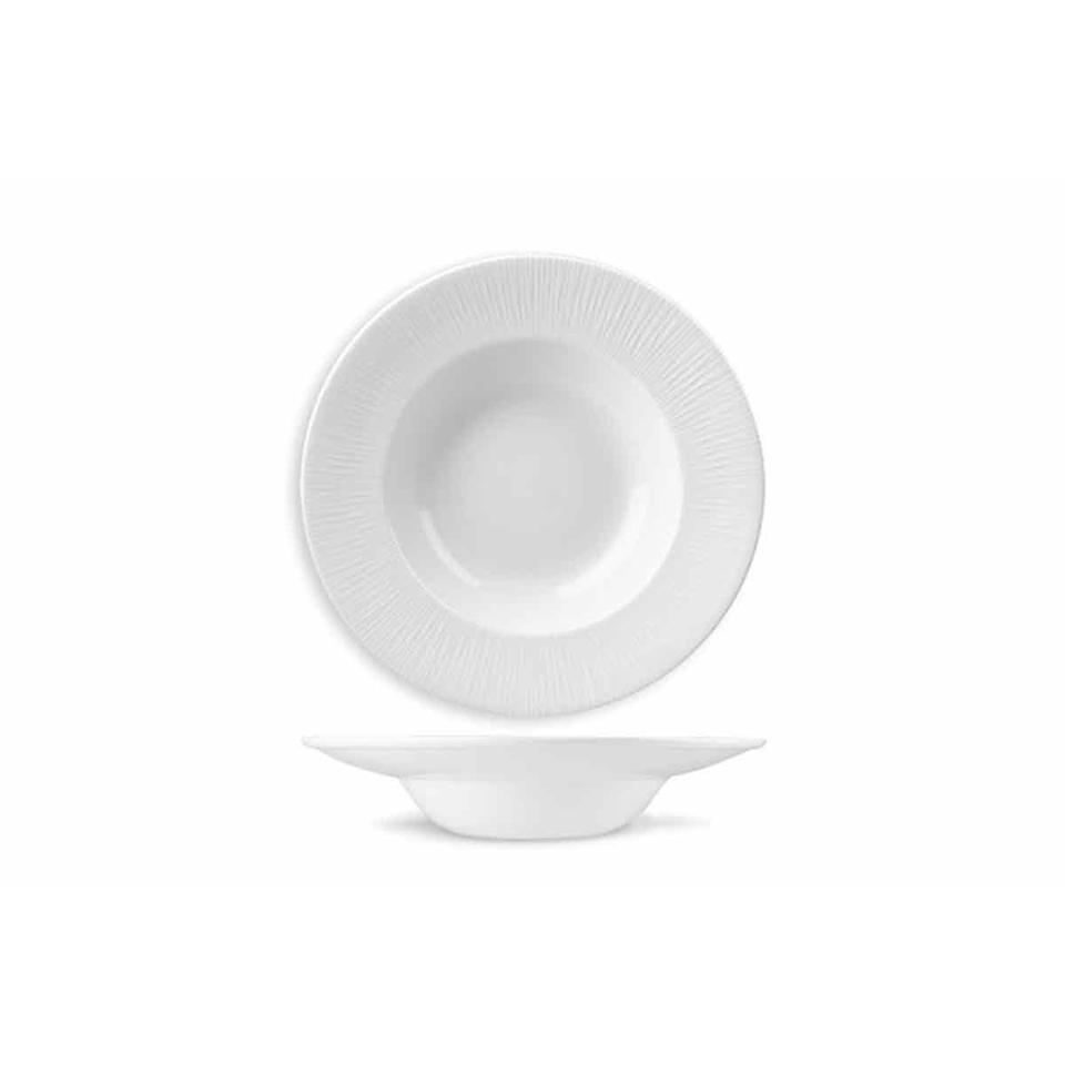 Piatto pasta Bowl Bamboo Churchill in ceramica vetrificata bianca